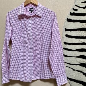 TALBOTS Button up Dress Shirt in berry color